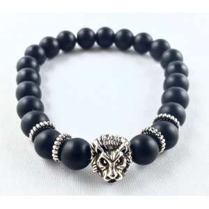Onyx bracelet with a lion | Nuggets and ball bracelets | 12.9€ | DIARA.SK