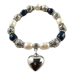 River Pearls bracelet with a pendant - heart | Nuggets and ball bracelets | 22.9€ | DIARA.SK