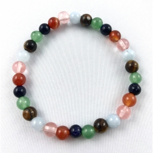 Bracelet mix of stones 6 mm - colored | Nuggets and ball bracelets | 9.9€ | DIARA.SK